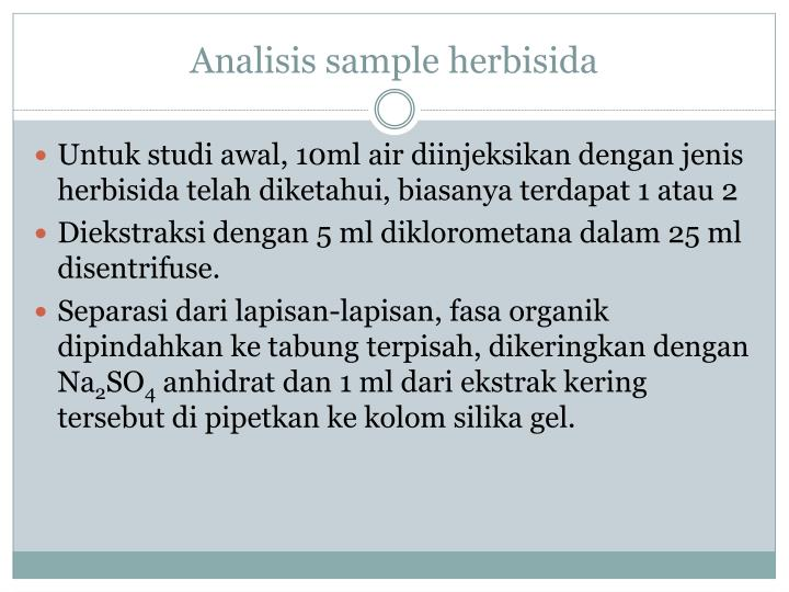 Analisis sample herbisida