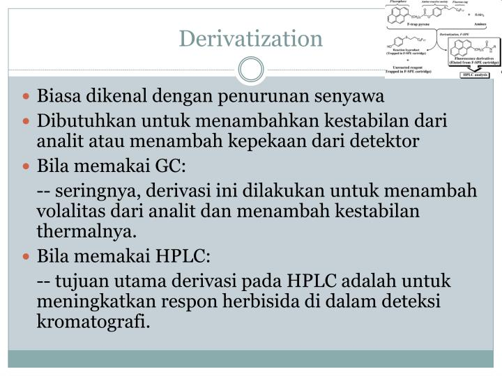 Derivatization