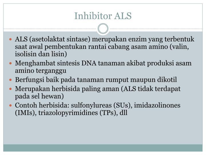 Inhibitor ALS