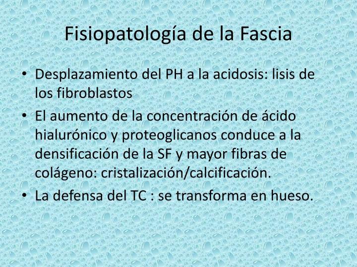Fisiopatología de la Fascia