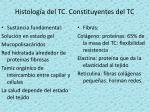 histolog a del tc constituyentes del tc