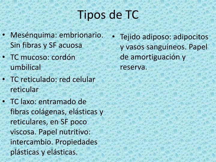 Tipos de TC