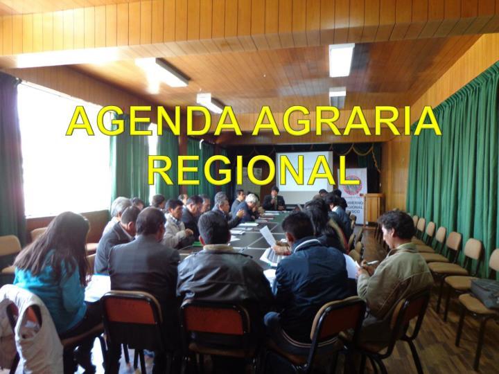 AGENDA AGRARIA REGIONAL