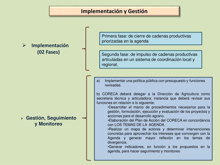 Implementación y Gestión