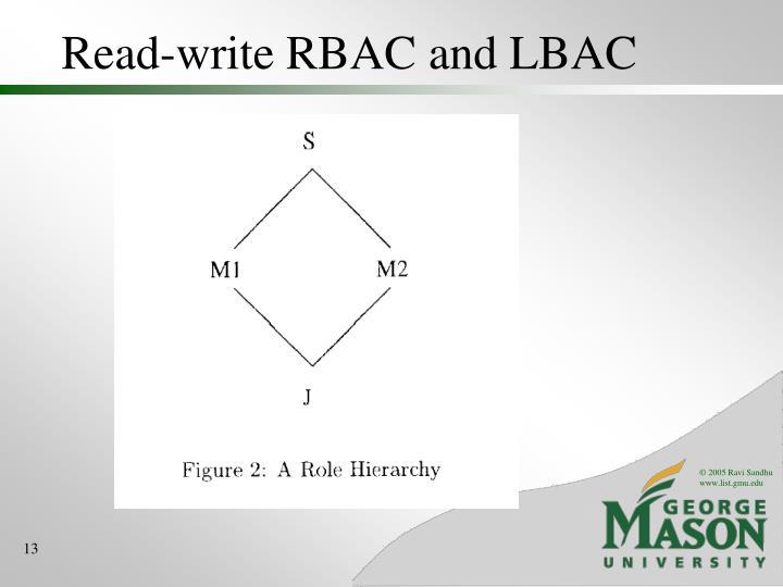 Read-write RBAC and LBAC