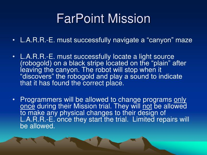 Farpoint mission