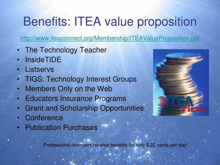 Benefits: ITEA value proposition
