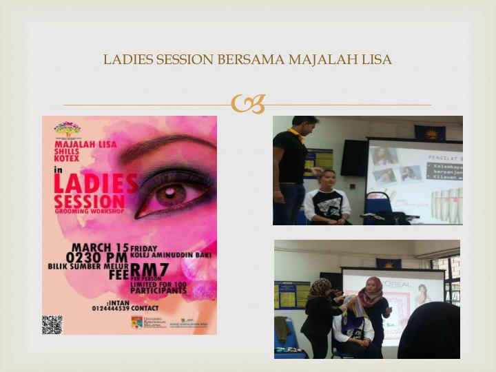 LADIES SESSION BERSAMA MAJALAH LISA
