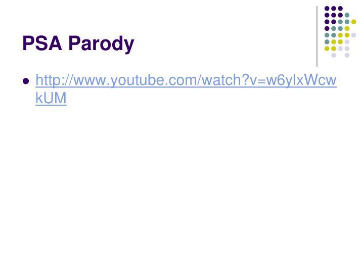 PSA Parody