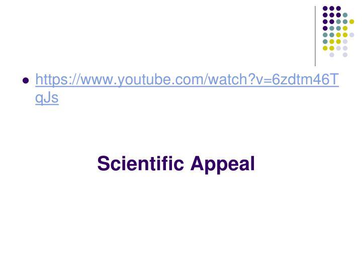 Scientific Appeal
