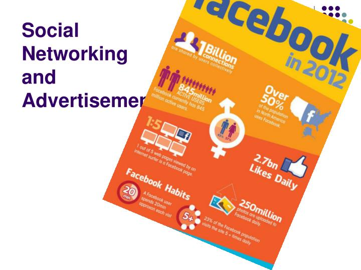 Social networking and advertisement