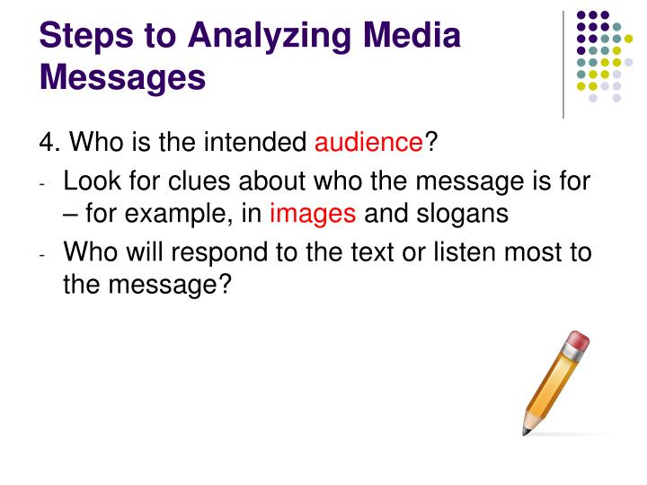 Steps to Analyzing Media Messages