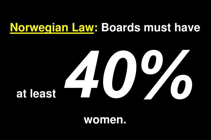 Norwegian Law