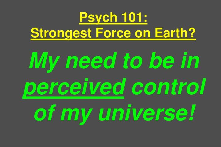 Psych 101: