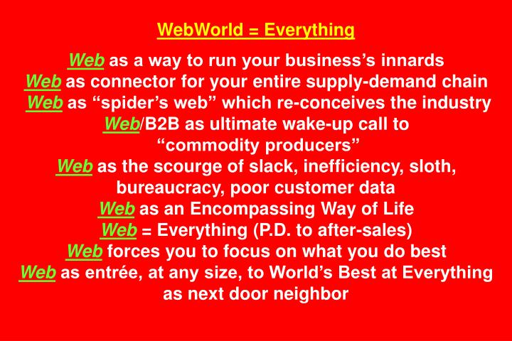 WebWorld = Everything
