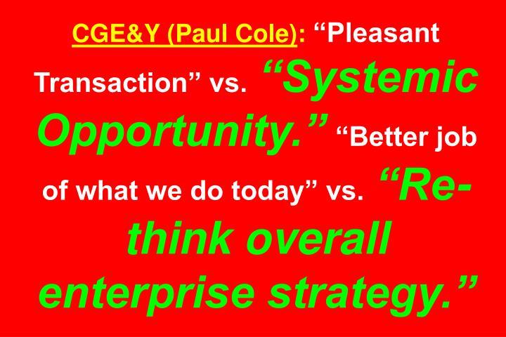 CGE&Y (Paul Cole)