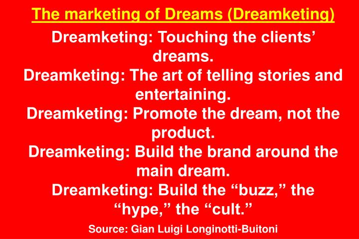 The marketing of Dreams (Dreamketing)