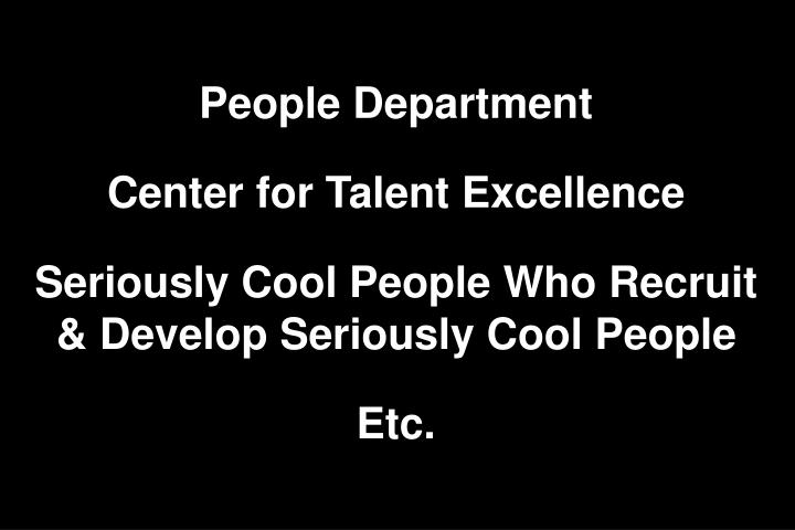 People Department