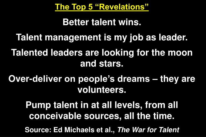 "The Top 5 ""Revelations"""