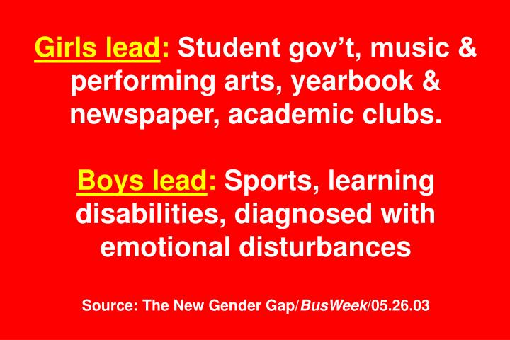 Girls lead