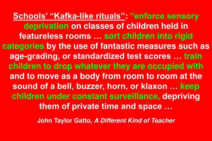 Schools Kafka-like rituals