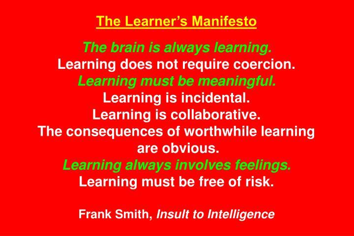 The Learners Manifesto