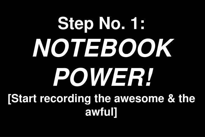 Step No. 1:
