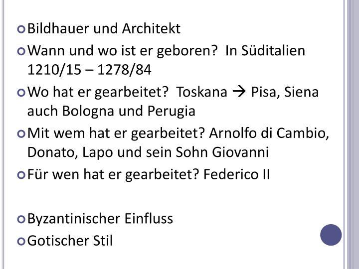 Bildhauer und Architekt