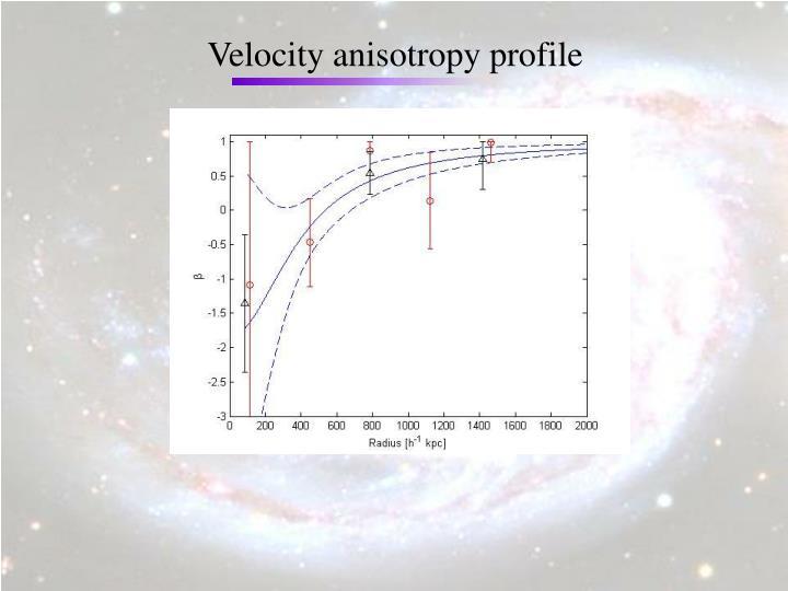 Velocity anisotropy profile