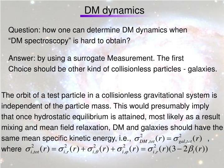 DM dynamics