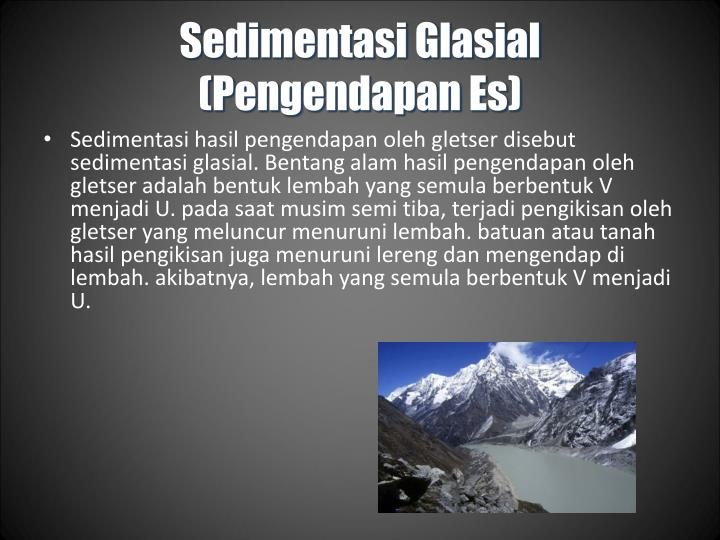 Sedimentasi Glasial