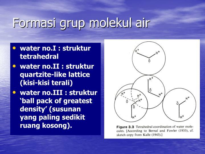 Formasi grup molekul air