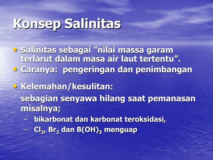 Konsep Salinitas
