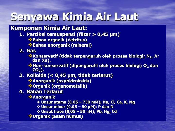 Senyawa Kimia Air Laut