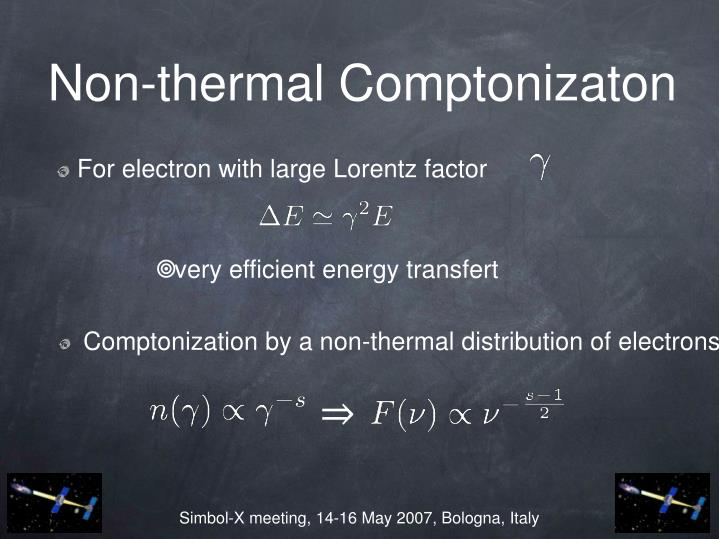 Non-thermal Comptonizaton