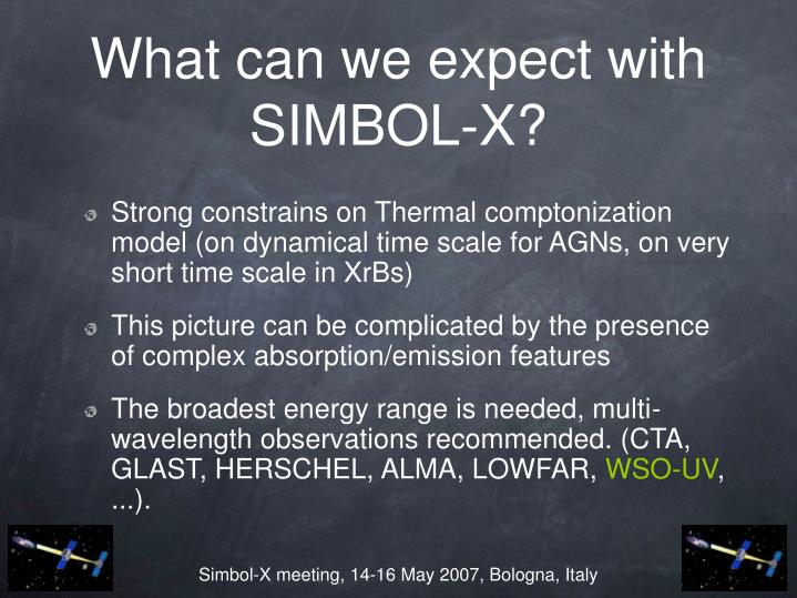 What can we expect with SIMBOL-X?