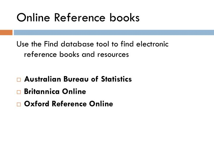 Online Reference books