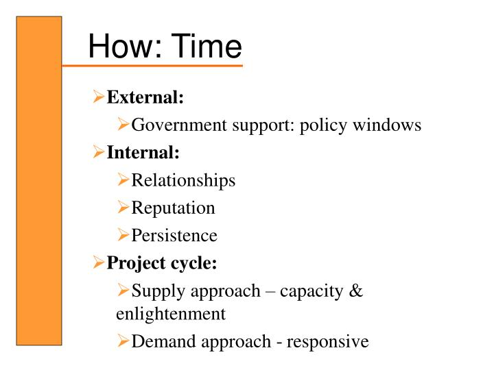 How: Time