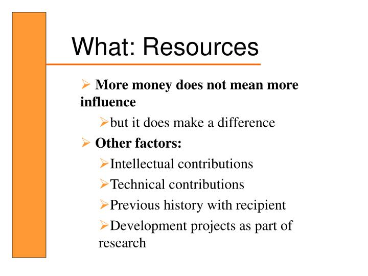 What: Resources