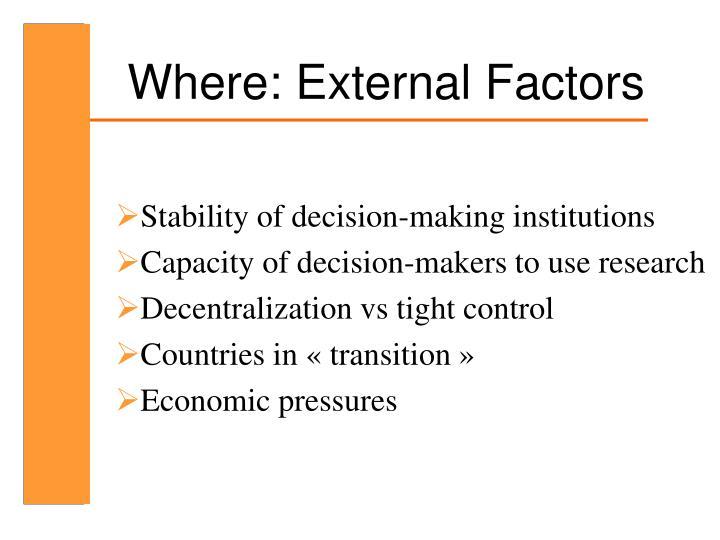 Where: External Factors