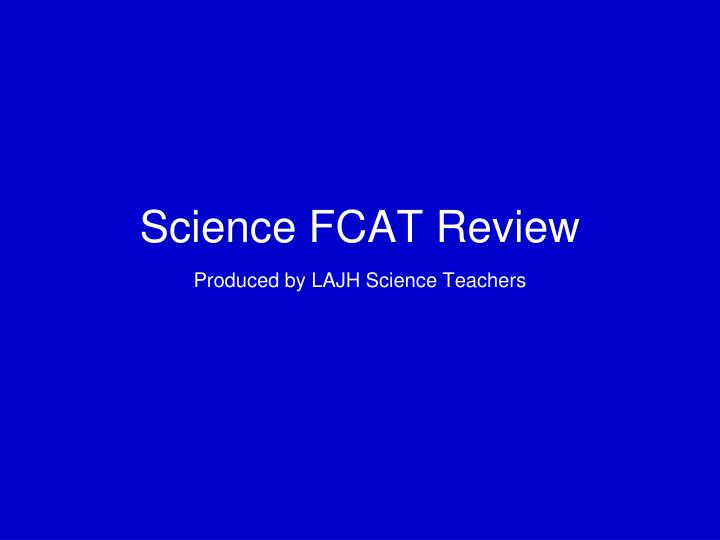 Science fcat review