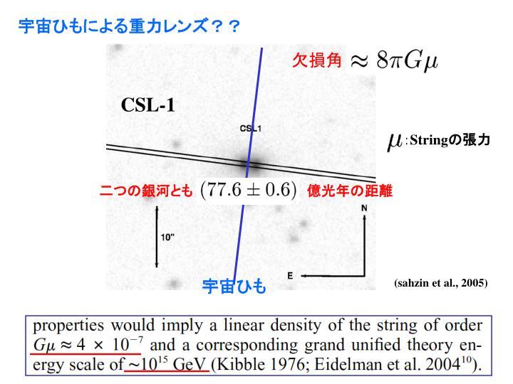 宇宙ひもによる重力レンズ??