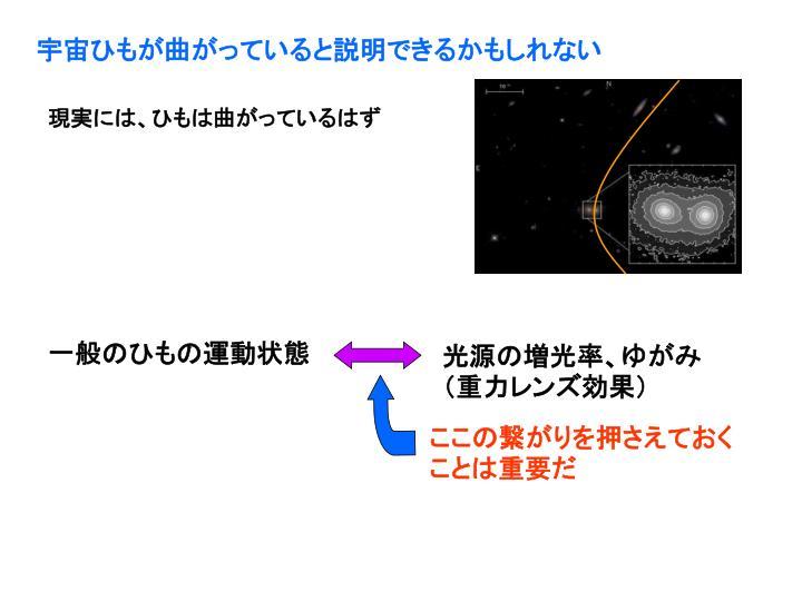 宇宙ひもが曲がっていると説明できるかもしれない