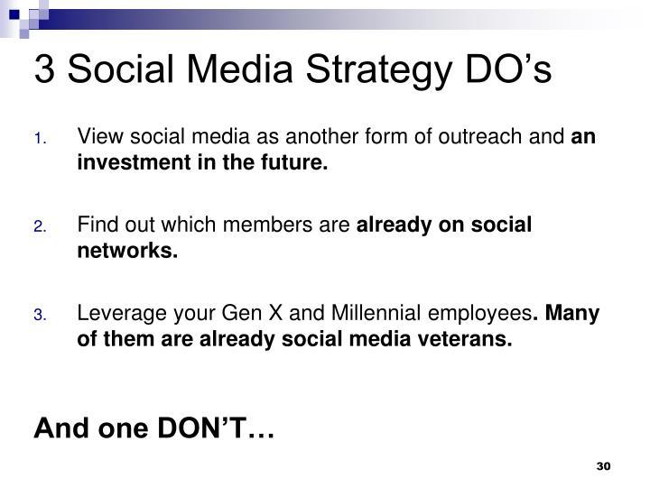 3 Social Media Strategy DO's