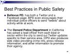best practices in public safety