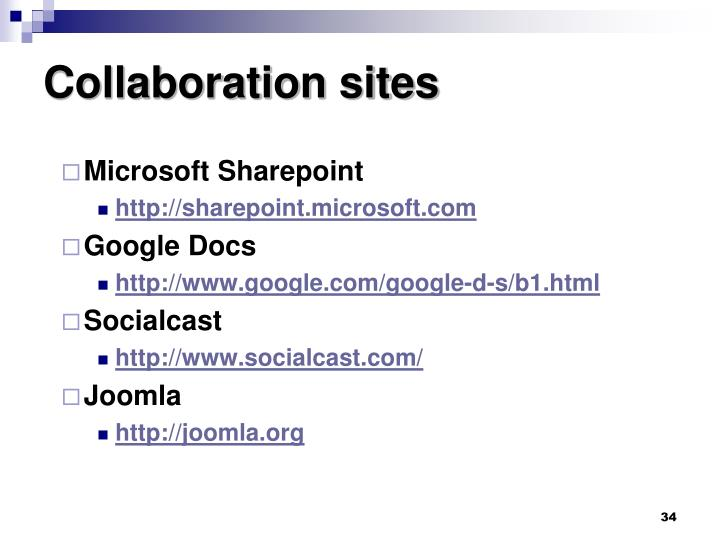 Collaboration sites