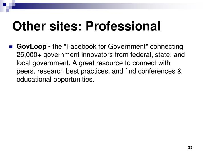 Other sites: Professional