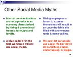 other social media myths
