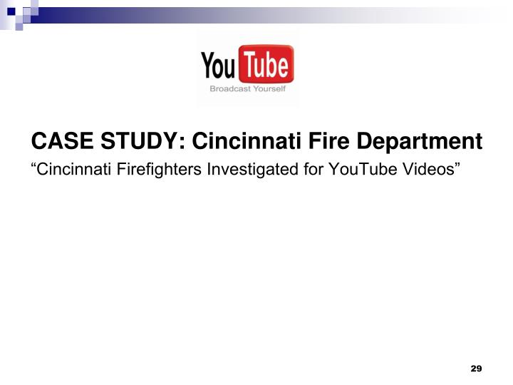 CASE STUDY: Cincinnati Fire Department