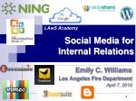 social media for internal relations
